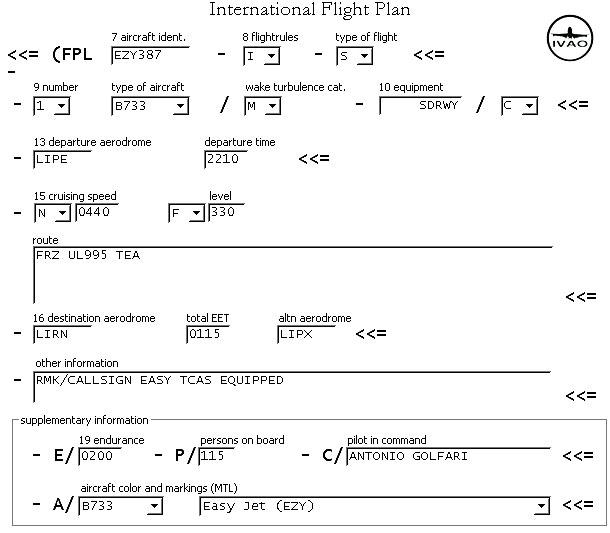 icao flight plan form 2012 pdf